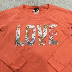 Modern lux orange love lightweight sweater